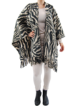 Boris omslag poncho fleece print