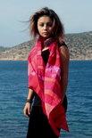 Rode sjaal van viscose - Liz