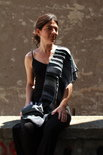 Grijze patchwork viscose sjaal  - Liz