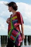 Prachtige patchwork sjaal, viscose - Liz