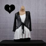 IKAT vestje - Zwart wit tinten