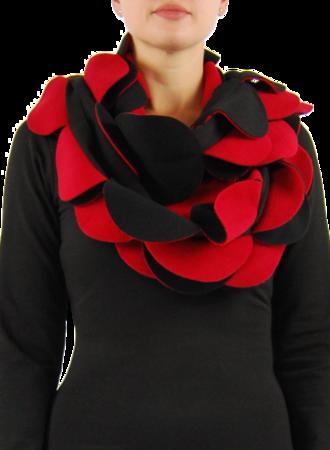 Sjaal cirkels fleece