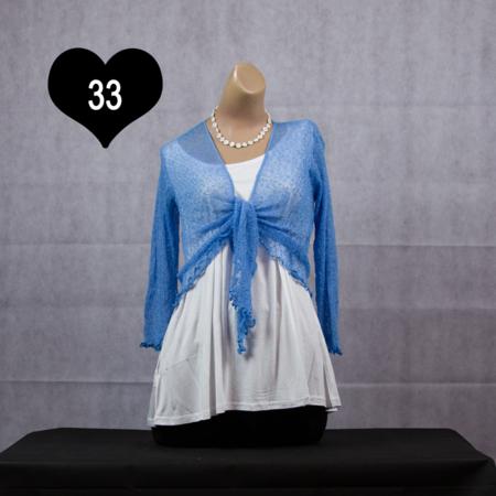 IKAT vestje - Blauw tinten