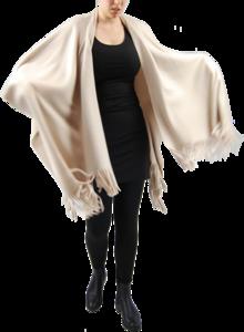 Boris omslag poncho fleece